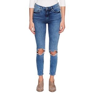 Free People High Rise Skinny in Turquoise Jeans